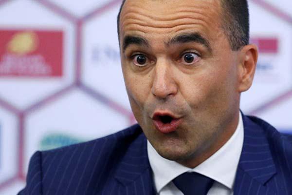 Pelatih Timnas Belgia Roberto Martinez - Reuters