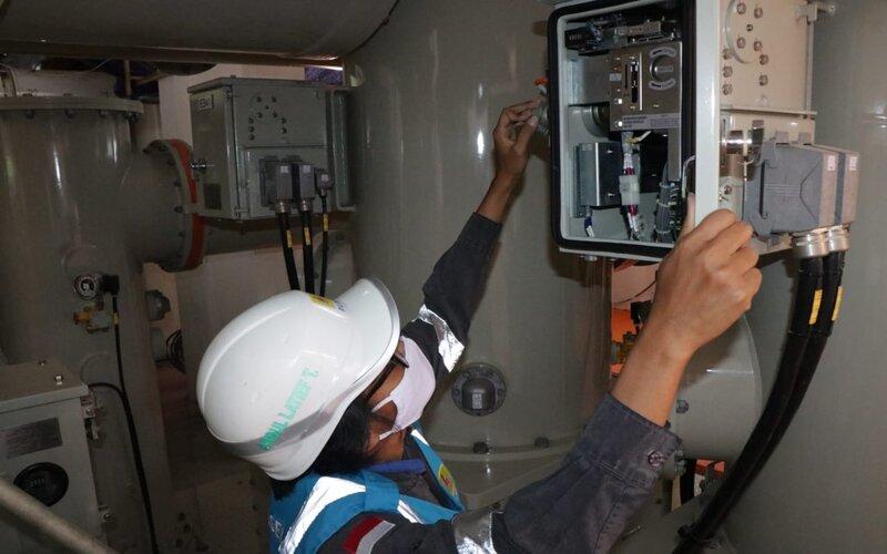 Jaringan transmisi bawah tanah Tanjung Bunga - Bontoala Makassar bertegangan 150 kiloVolt (kV) akhirnya rampung dan mulai beroperasi sejak pukul 14.55 WITA, Sabtu (10/10/2020). - Istimewa/PLN