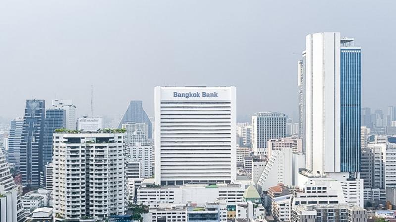 Kantor pusat Bangkok Bank di Bangkok, Thailand. - bangkokbank.com