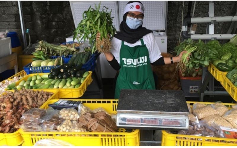 penjual di Tsukiji Mart Jakarta - Istimewa