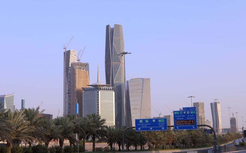 Gedung di King Abdullah Financial District, Riyadh, Arab Saudi - Maya Anwar/Bloomberg
