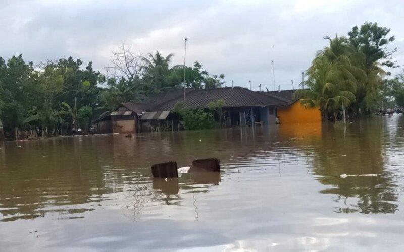 Banjir di Pengambengan, Jembrana.
