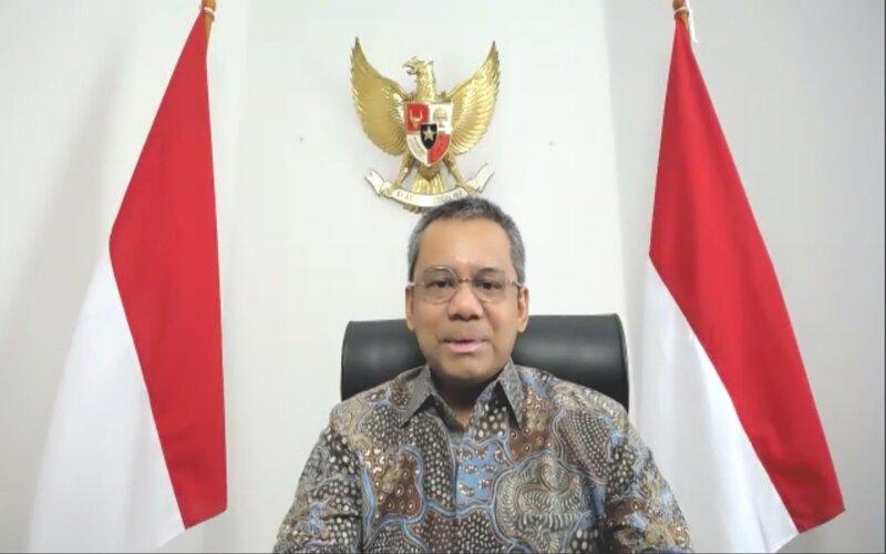 Wakil Menteri Keuangan Suahasil Nazara dalam media briefing, Senin (12/10/2020) - Jaffry Prabu Prakoso/Bisnis.