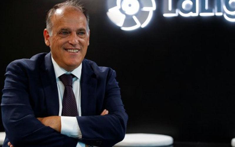 Presiden La Liga Javier Tebas/Antara - Reuters