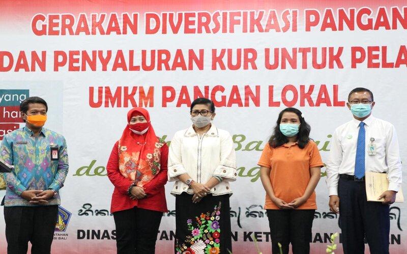 Ceremoni kegiatan gerakan diversifikasi pangan lokal di Bali.