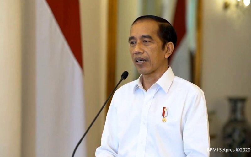Presiden Joko Widodo menyampaikan keterangan pers terkait Undang-Undang Cipta Kerja di Istana Bogor, Jawa Barat, Jumat (9/10)  -  Youtube Setpres