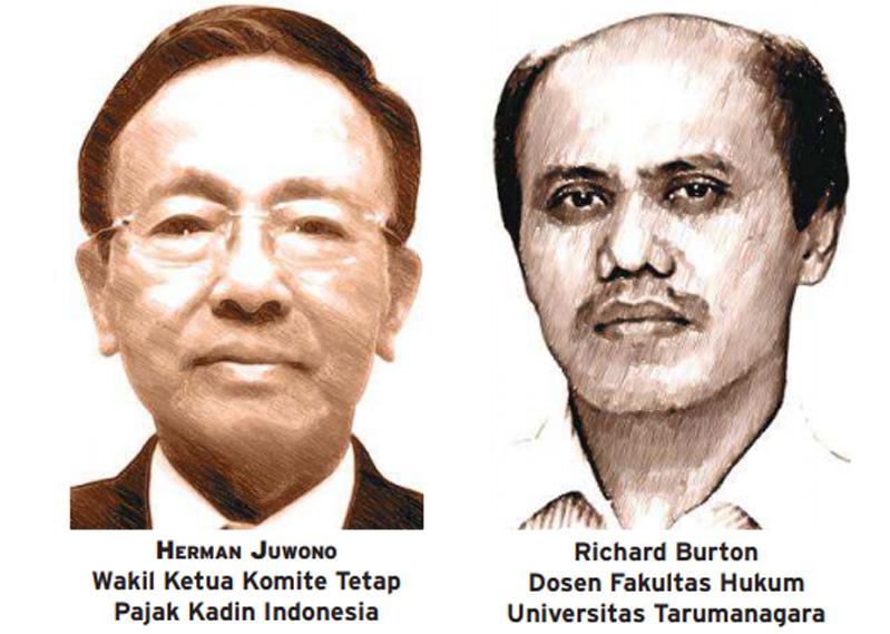 Herman Juwono (Wakil Ketua Komite Tetap Pajak Kadin Indonesia) dan Richard Burton (Dosen Fakultas Hukum Universitas Tarumanagara)