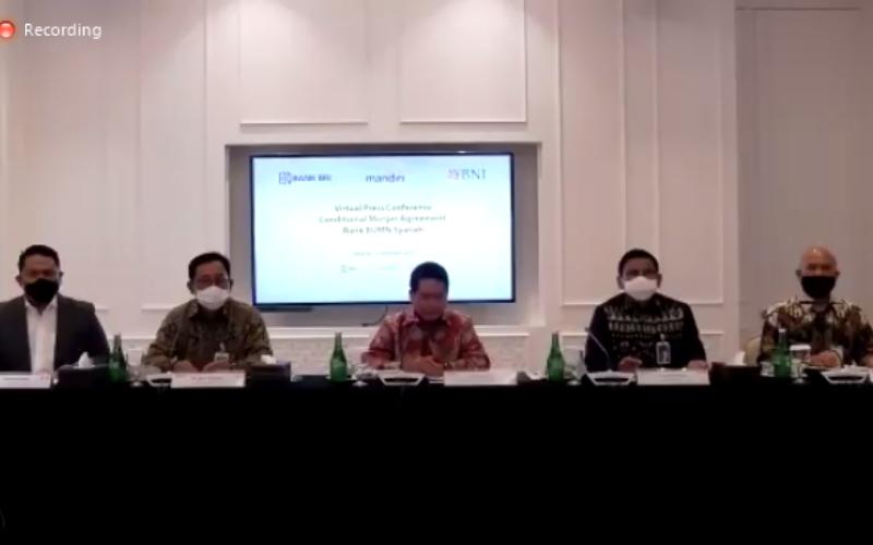 Press Conference Proses Merger Bank BUMN Syariah, Selasa (13/10 - 2020)