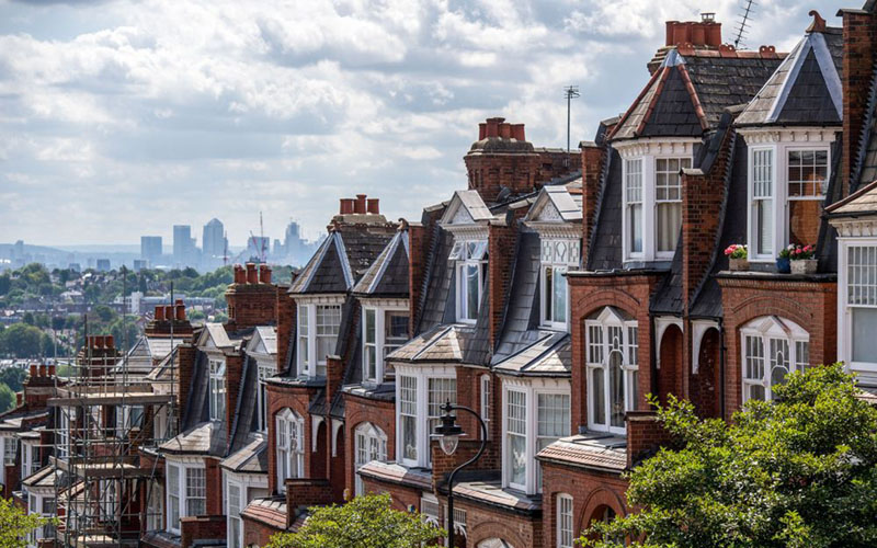 Ilustrasi perumahan mewah./Bloomberg - Chris J. Ratcliffe