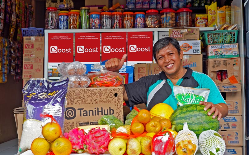 Ilustrasi salah satu merchant Tani Hub yang bekerja sama dengan Boost Indonesia.  - Dok. Istimewa