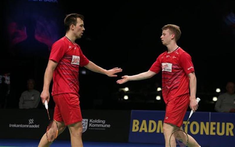 Ganda Denmark Kim Astrup-Andres Skaarup Rasmussen - Badminton Europe