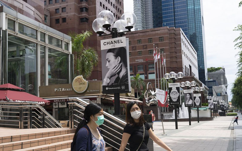 Mal di Orchard Road, Singapura./Bloomberg - Wei Leng Tay