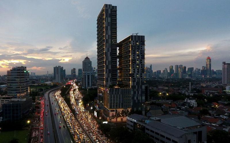 Wajah kawasan pusat bisnis Jakarta sebelum dihantam pandemi Covid-19./Bloomberg - Dimas Ardian