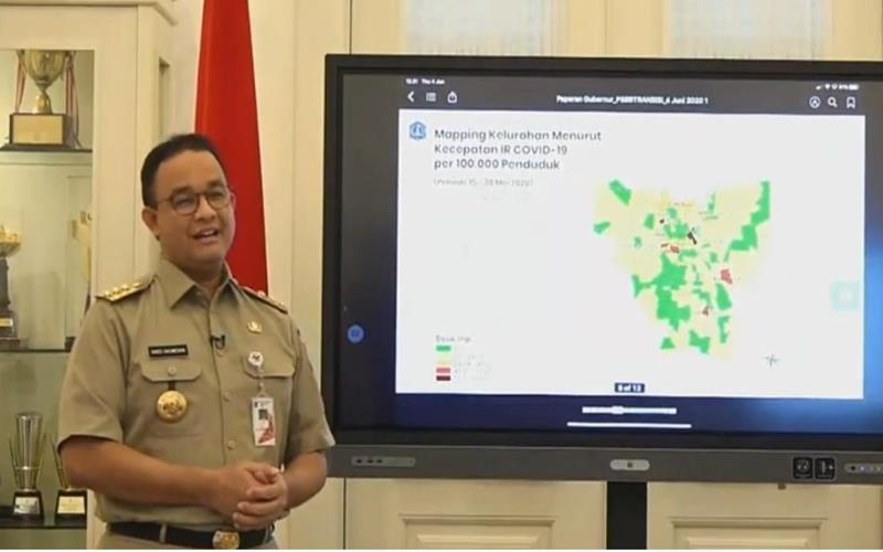 Gubernur DKI Jakarta Anies Baswedan memaparkan evaluasi PSBB tahap III di DKI, Kamis (4/6/2020). - Istimewa