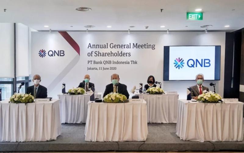 Bank QNB Indonesia menggelar rapat umum pemegang saham tahunan (RUPST) pada Kamis, 11 Juni 2020. - Dok. Bank QNB Indonesia