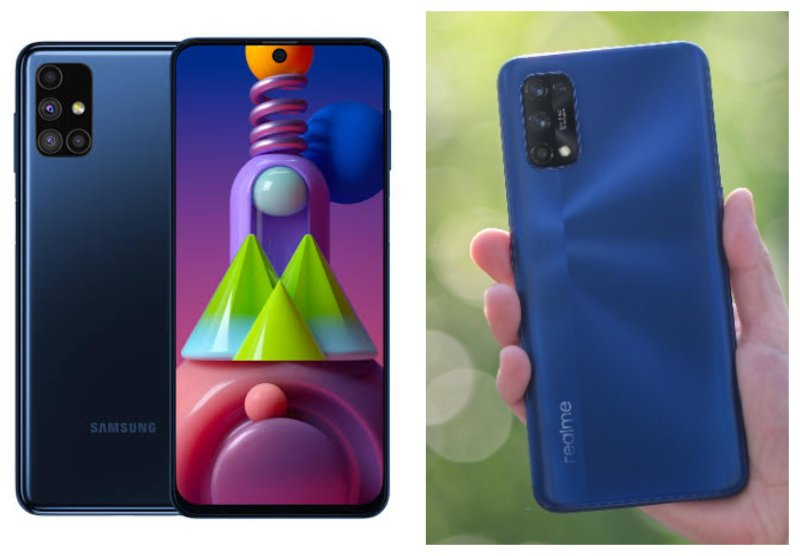 Samsung Galaxy M51 vs Realme 7 Pro. - ilustrasi