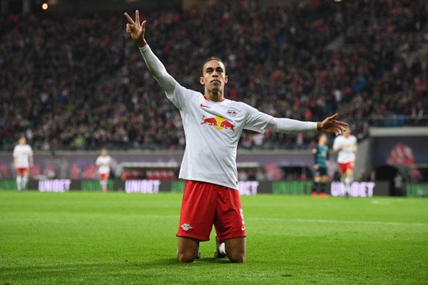 Striker RB Leipzig Yussuf Poulsen - Twitter@RBLeipzig