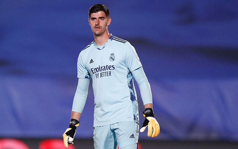 Thibaut Courtois ketika Real Madrid dikalahkan Cadiz. - Twitter@realmadrid