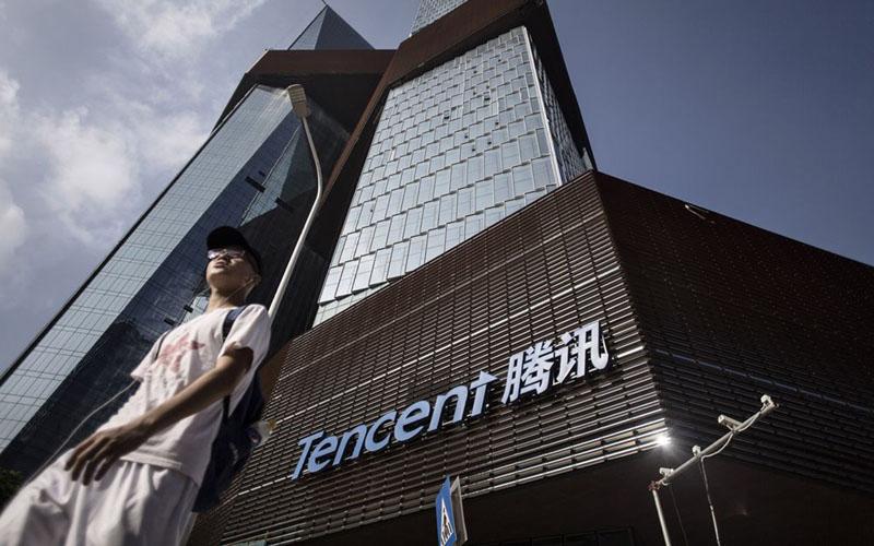 Kantor pusat Tencent Holdings Ltd di Shenzhen, China./Bloomberg - Qilai Shen