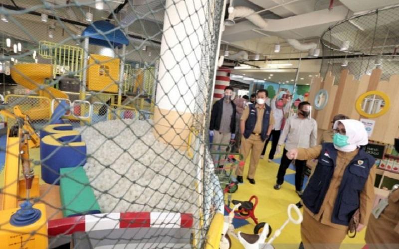 Pemkot Bandung meninjau simulasi tempat bermain anak - Istimewa