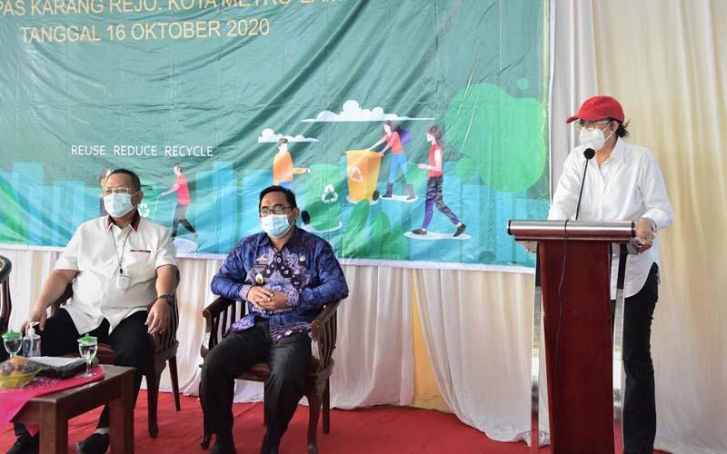 Dirjen PSLB3 KLHK, Rosa Vivien, ketika memberikan sambutan pada saat kunjungan kerja bersama Komisi IV DPR dan KLHK ke Lampung, akhir pekan ini. - Istimewa