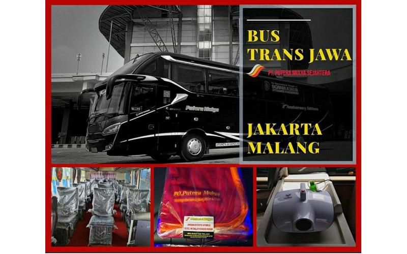 Bus eksekutif PO Putera Mulya Sejahtera dengan rute perjalanan Malang-Surabaya-Jakarta.  - Dok. @puteramulya_sejahtera_official