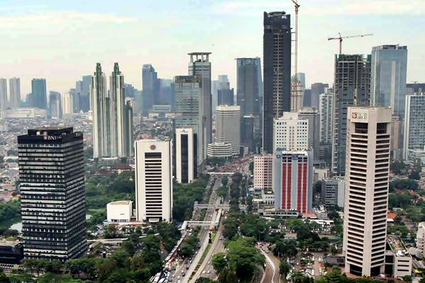Gedung perkantoran di Jakarta terlihat dari ketinggian./Bisnis.com - Endang Muchtar