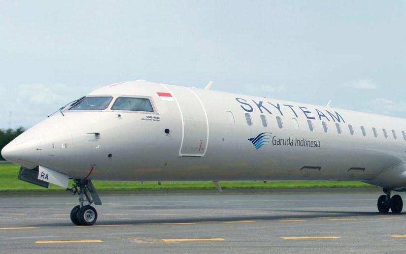 Pesawat Bombardier CNJ1000 Next Gen milik PT Garuda Indonesia (Persero) Tbk. - garuda