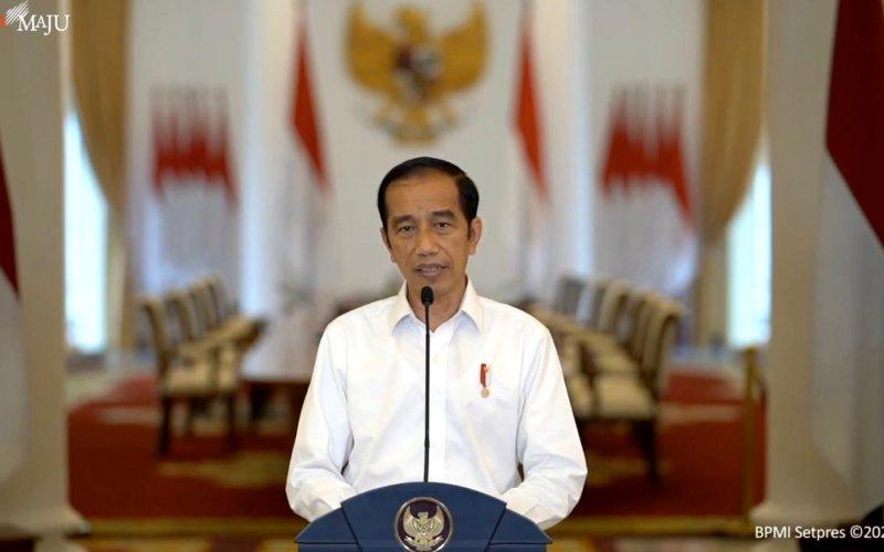 Presiden Joko Widodo menyampaikan keterangan pers terkait Undang-Undang Cipta Kerja di Istana Bogor, Jawa Barat, Jumat (9/10 - 2020) / Youtube Setpres