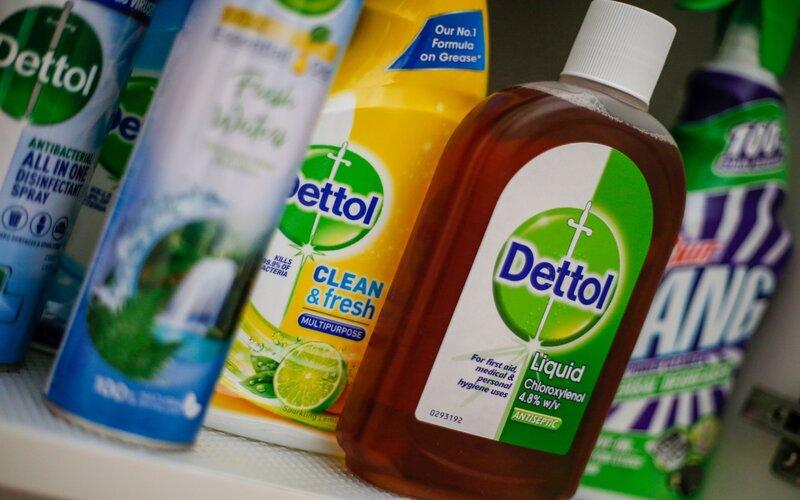 Produk disinfektan merk Dettol produksi Reckitt Benckiser Group Plc.  - Bloomberg