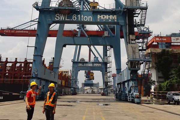 Pelabuhan Boom Baru Palembang yang dikelola oleh PT Pelindo II (Persero) atau IPC Cabang Palembang. Bisnis - Dinda Wulandari