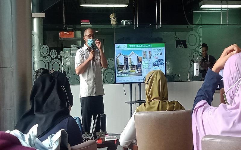 Konferensi pers jelang gelaran Kalla fair Vol II/2020, di Wisma Kalla, Makassar, Selasa (10/20 - 2020).