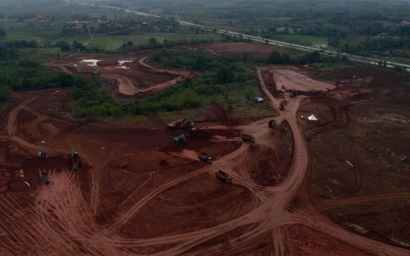 Foto udara lokasi Subang Smartpolitan yang berada di KEK Segitiga Rebana - Bisnis/Rachman