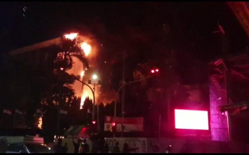 Kebakaran di gedung Kejaksaan Agung - Istimewa/Wahyu Muryadi