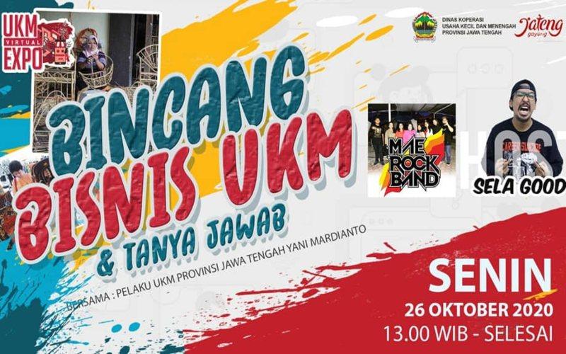 Dinas Koperasi dan UMKM (Dinkop/UMKM) Provinsi Jawa Tengah menyelenggarakan UMKM Virtual Expo 2020 pada 25/27 Oktober 2020 secara daring.