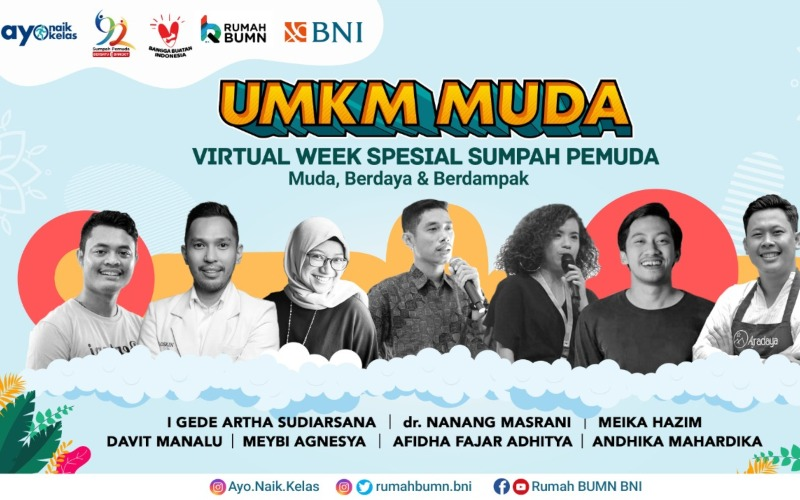 Program UMKM Muda Virtual Week Spesial Sumpah Pemuda BNI - Istimewa