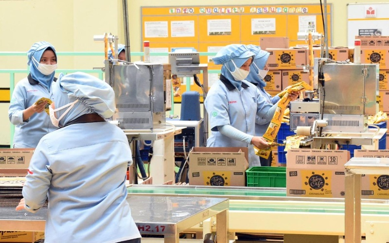 Salah satu fasilitas produksi industri makanan. - Kemenperin