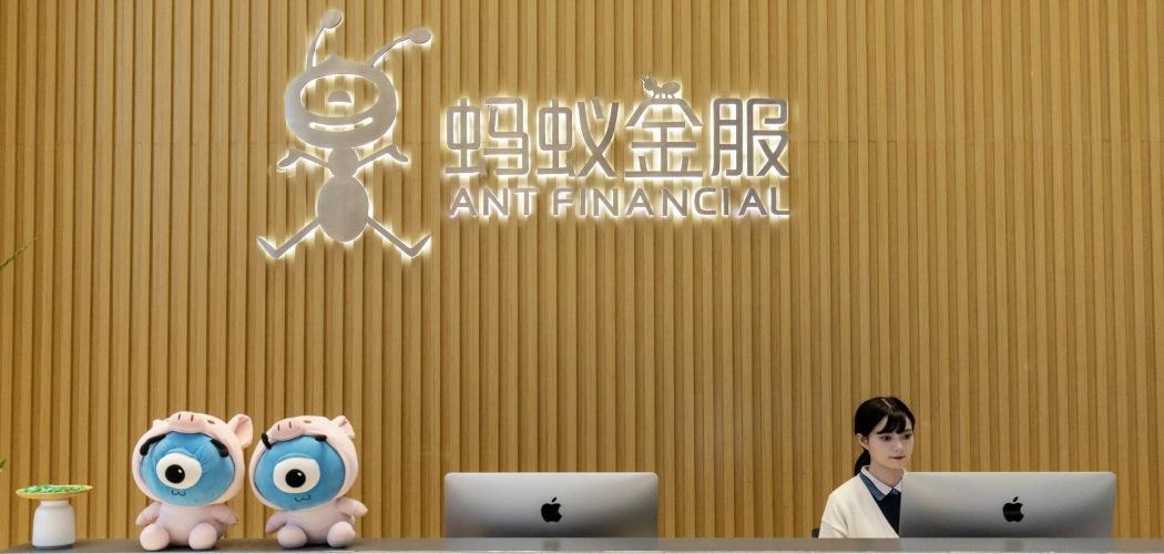 Suasana kantor pusat Ant Financial di Hangzhou, China, Kamis (17/10/2019). - Bloomberg/Qilai Shen