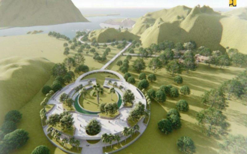 Rencana Penataan Sarana dan Prasana di Taman Nasional Komodo di NTT / Kementerian PUPR