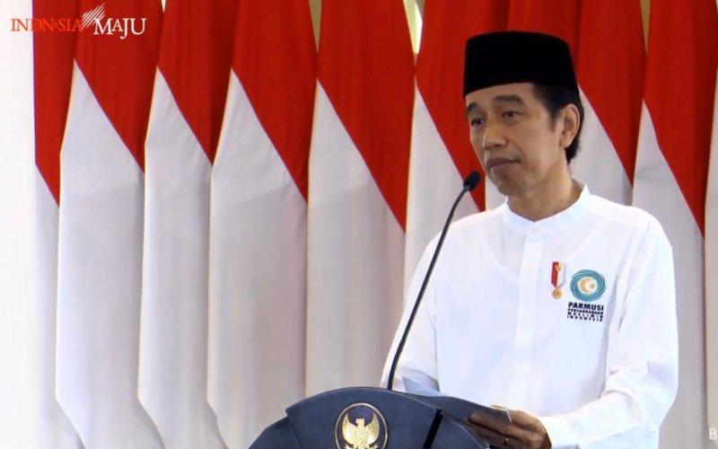 Presiden Joko Widodo membuka kegiatan Muktamar IV PP Parmusi tahun 2020 secara virtual dari Istana Bogor, Jawa Barat, Sabtu (26/9 - 2020) / Youtube Setpres