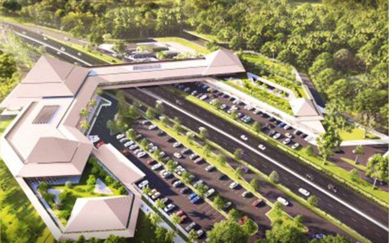 Skybridge di Resta Pendopo 456 jalan tol Semarang-Solo. - Istimewa/BPJT