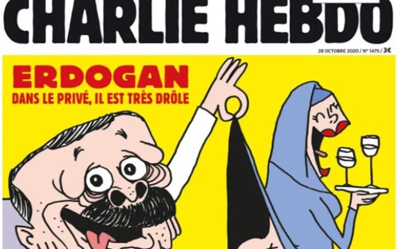 karikatur Presiden Recep Tayyip Erdogan yang muncul pada majalah Charlie Hebdo. - Istimewa