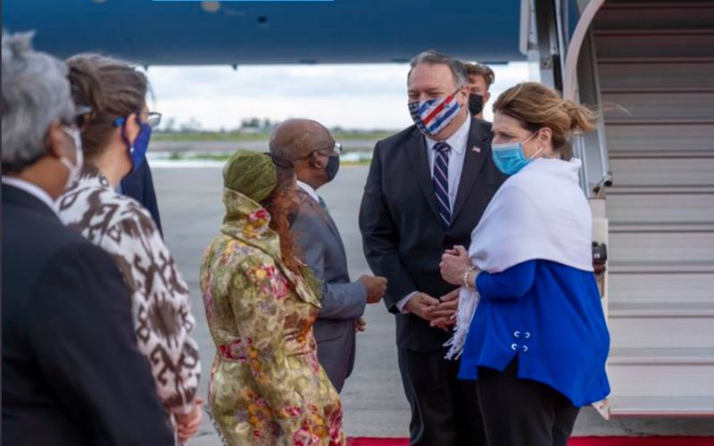 Menteri Luar Negeri AS Mike Pompeo berkunjung ke Maladewa sebelum ke Indonesia, Rabu (28/10/2020). JIBI - Bisnis/Nancy Junita @Twitter SecPompeo