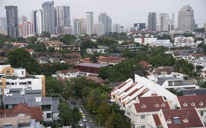 Properti residensial di Singapura./Bloomberg - Wei Leng Tay