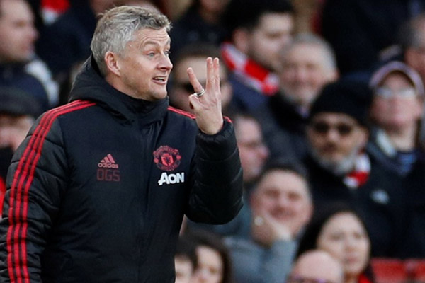Pelatih Manchester United Ole Gunnar Solskjaer - Reuters
