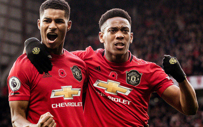 Dua tombak tajam Manchester United, Marcus Rashford (kiri) dan Anthony Martial. - PremierLeague.com