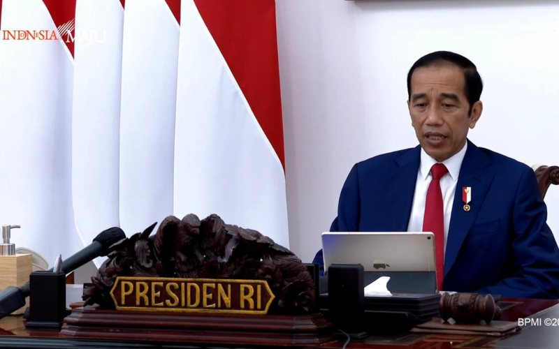 Presiden Joko Widodo membuka rapat terbatas mengenai Percepatan Penyerapan Garam Rakyat di Istana Merdeka, Jakarta, Senin (5/10 - 2020)  -  Youtube Setpres.