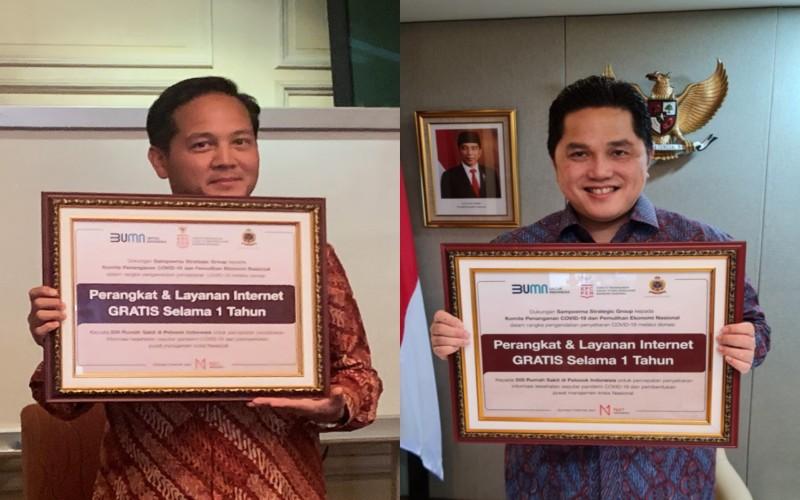 Net1 Indonesia Donasi Internet Gratis Dukung Percepatan Penanganan Covid/19