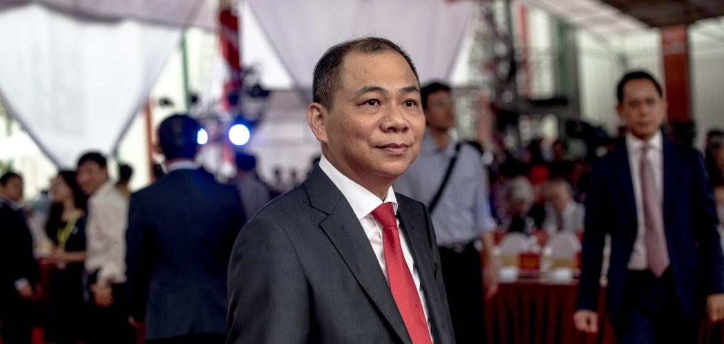 Pham Nhat Vuong, pendiri dan pemilik Vingroup JSC, dalam acara pembukaan pabrik VinFast di Haiphong, Vietnam, Jumat (14/6/2019). - Bloomberg/Yen Duong