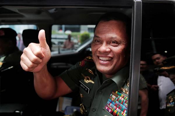 Gatot Nurmantyo saat masih menjabat sebagai Panglima TNI - Reuters/Beawiharta